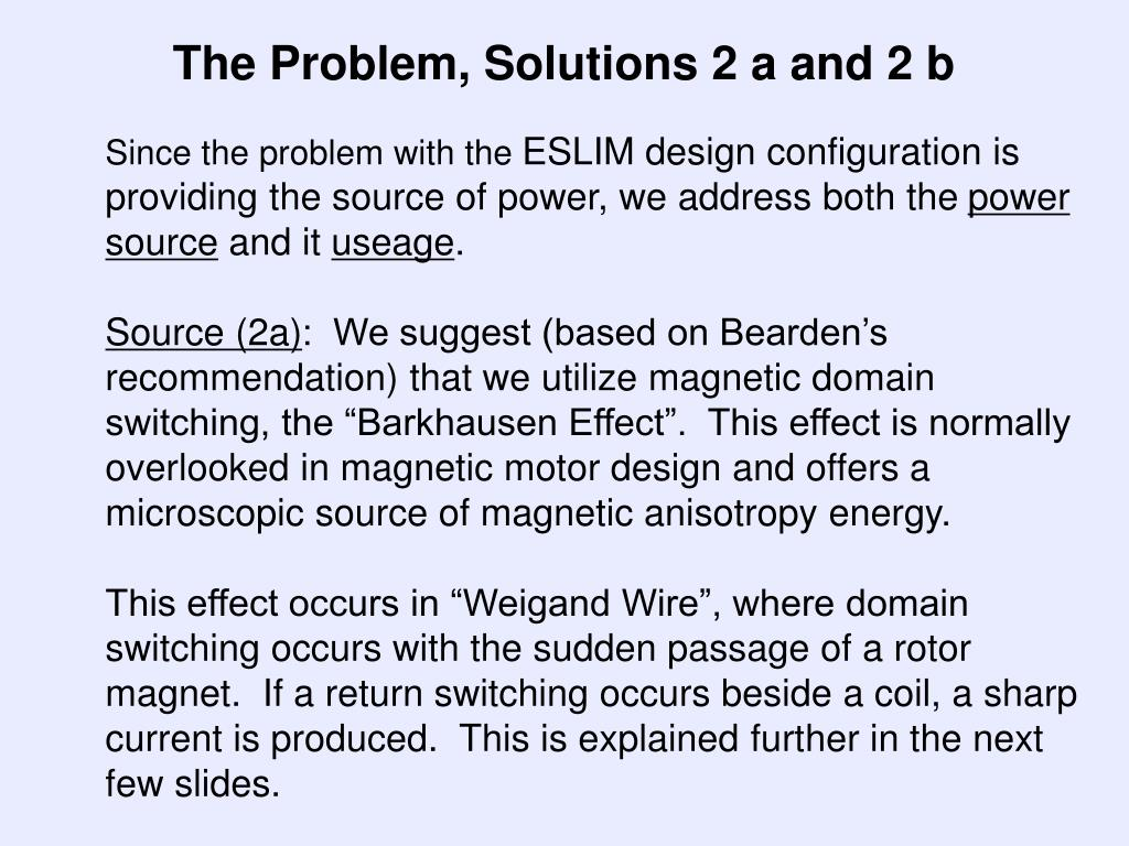 The Problem, Solutions 2 a and 2 b