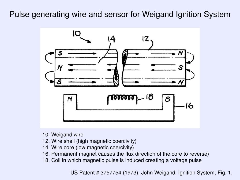 Pulse generating wire and sensor for Weigand Ignition System