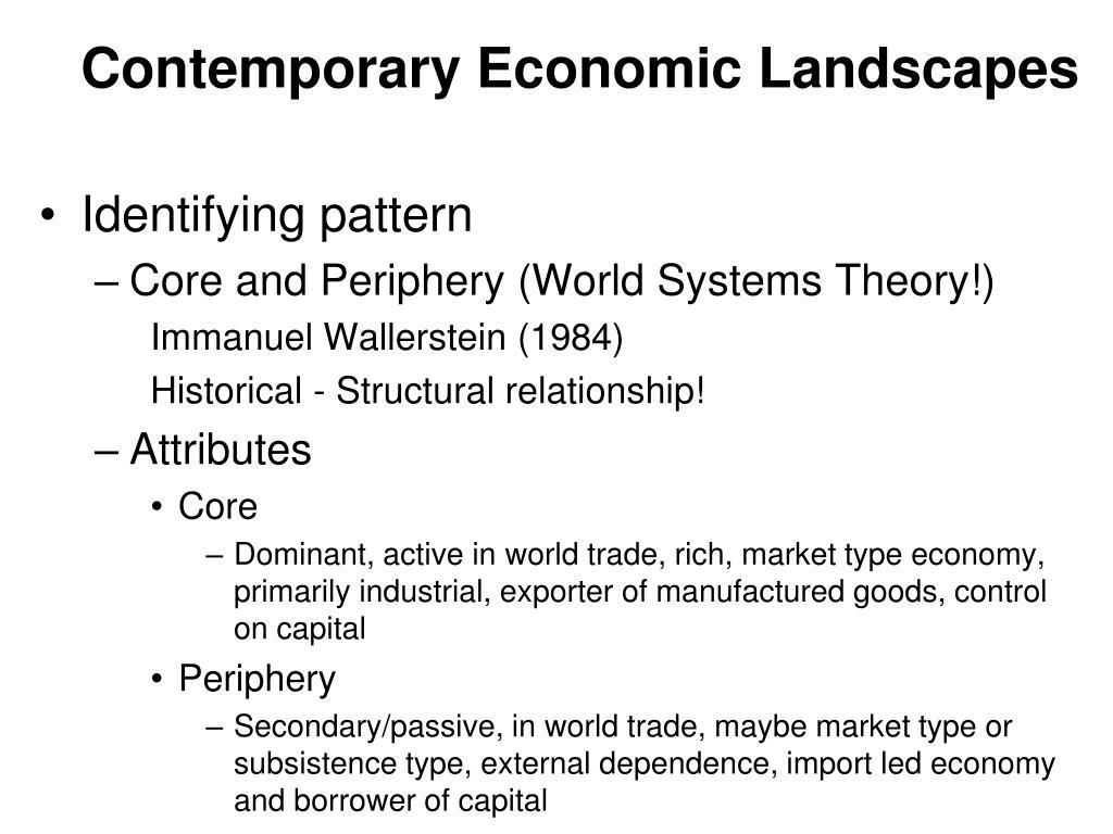 Contemporary Economic Landscapes