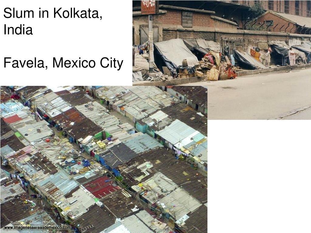 Slum in Kolkata, India