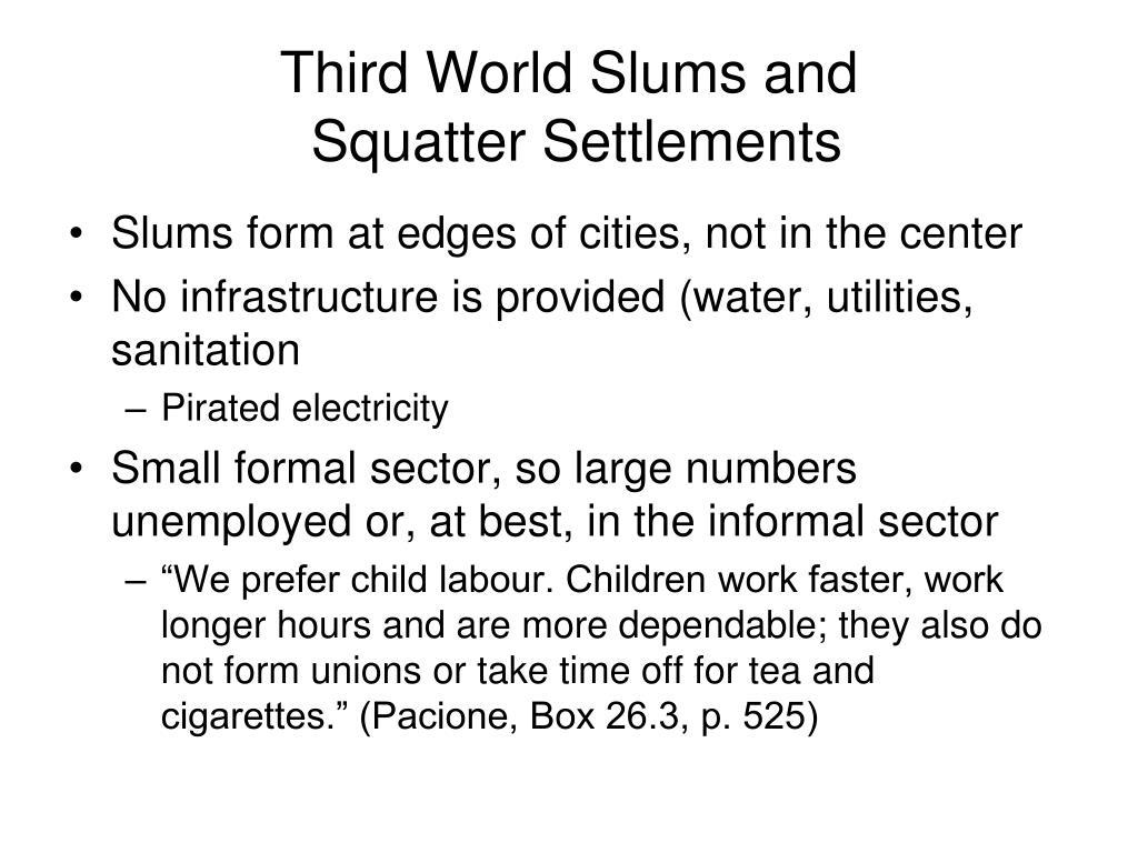 Third World Slums and