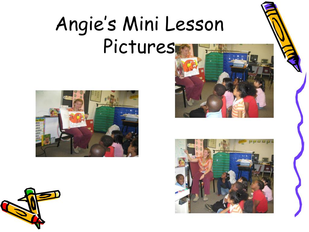 Angie's Mini Lesson Pictures
