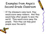 examples from angie s second grade classroom