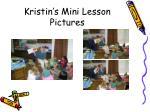 kristin s mini lesson pictures