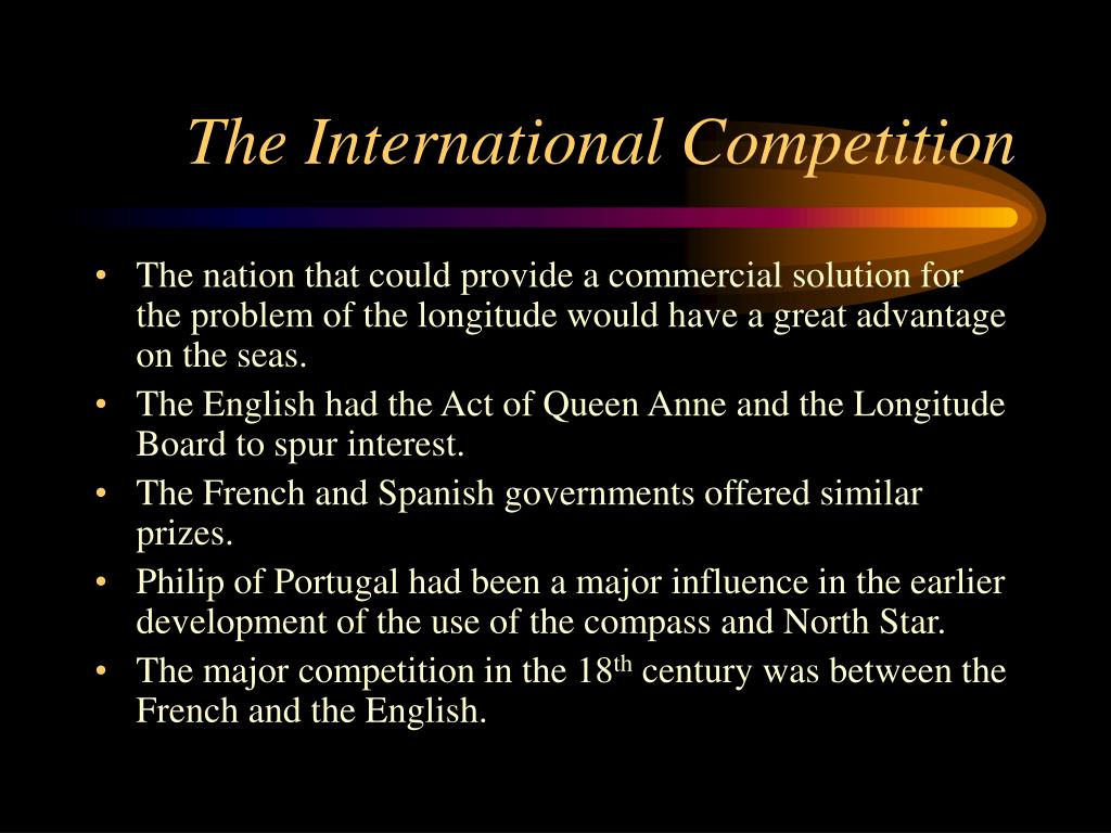 The International Competition