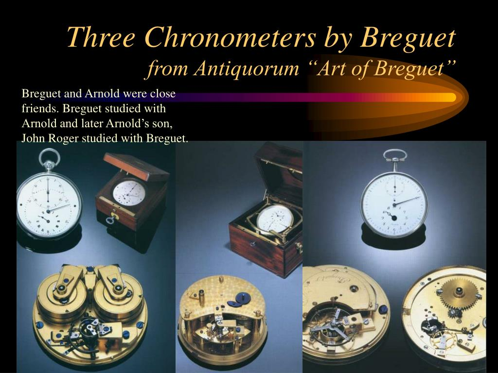 Three Chronometers by Breguet