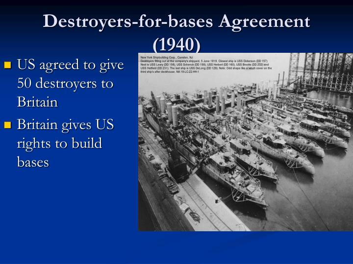 Destroyers-for-bases Agreement (1940)