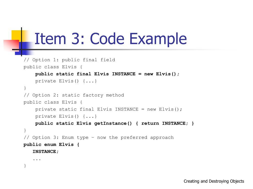 Item 3: Code Example