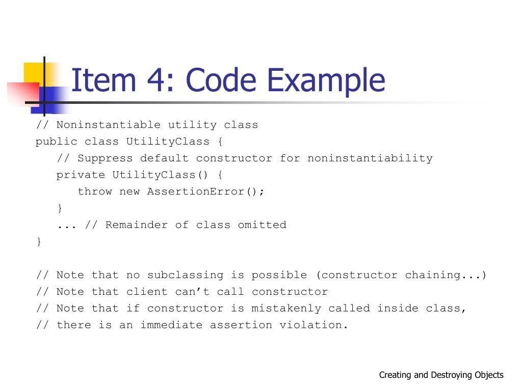 Item 4: Code Example