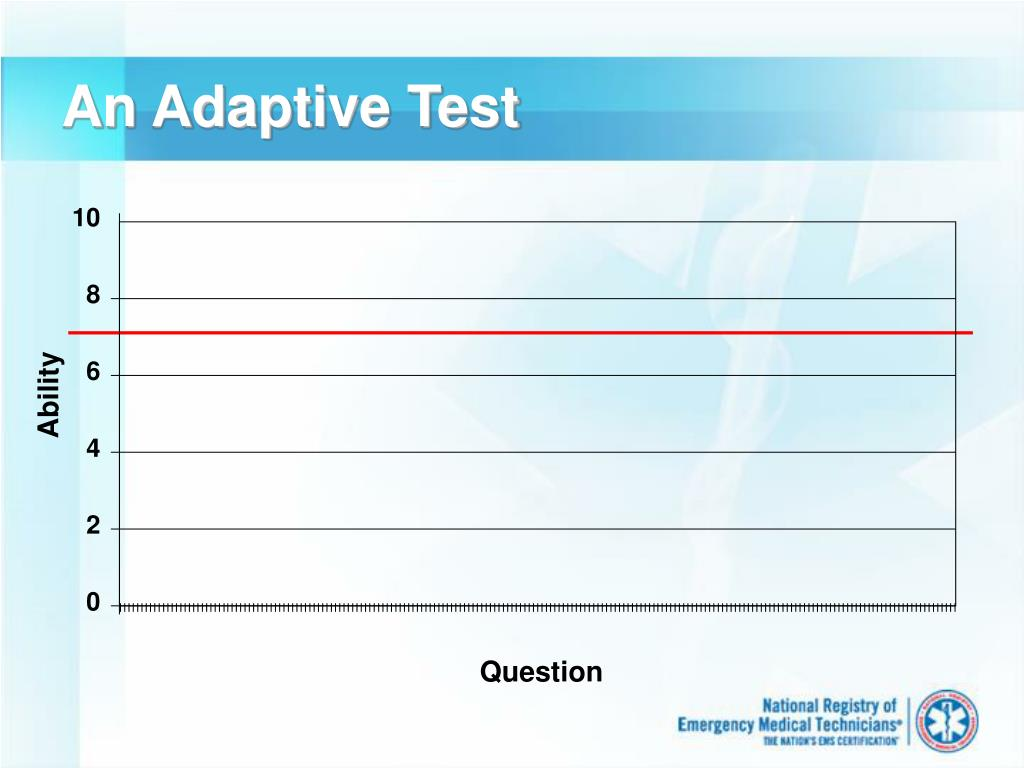 An Adaptive Test