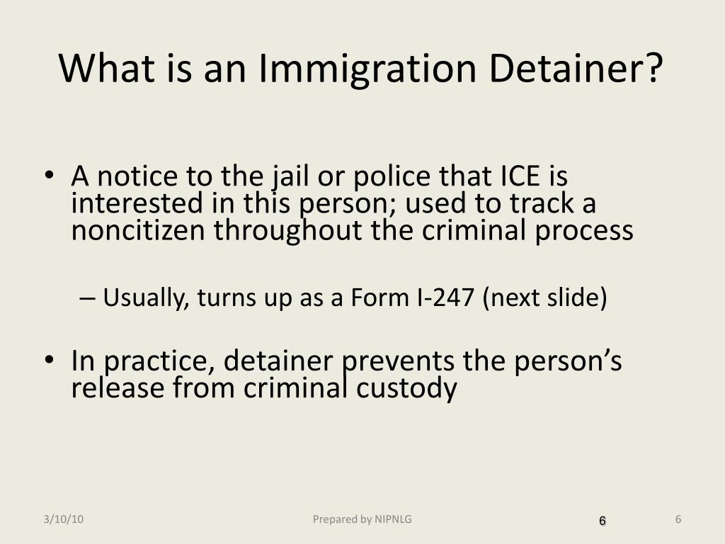 What is an Immigration Detainer?