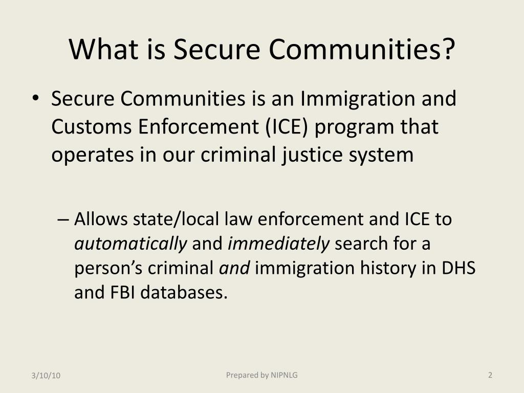 What is Secure Communities?