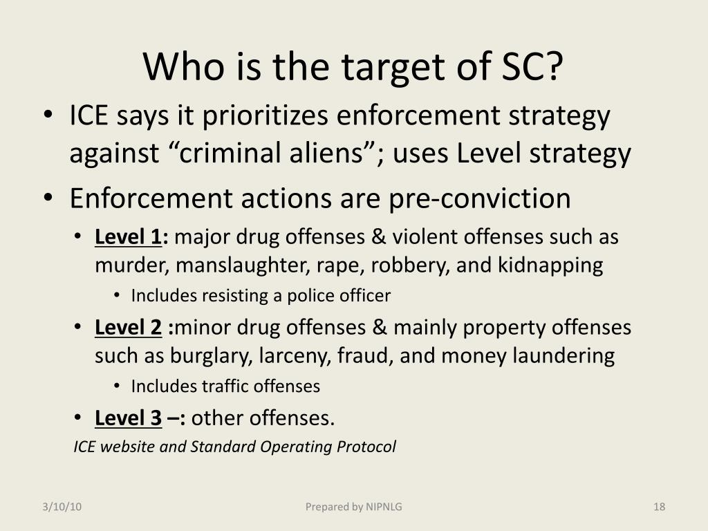 Who is the target of SC?