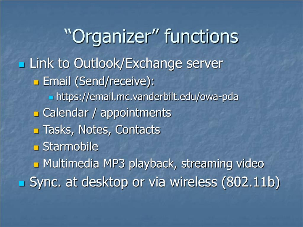"""Organizer"" functions"