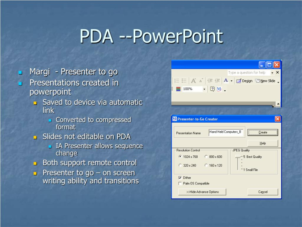 PDA --PowerPoint