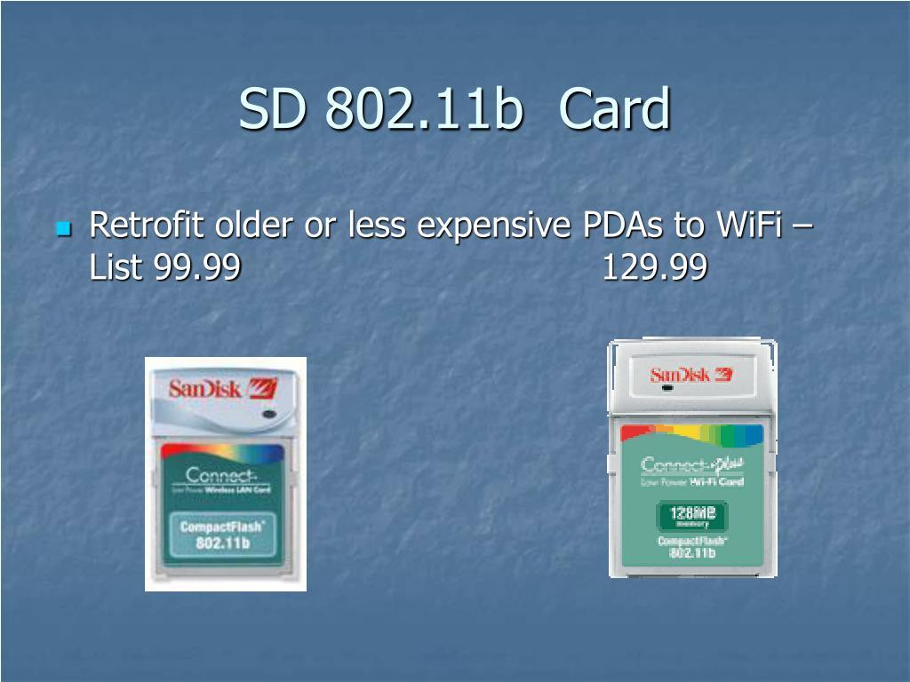 SD 802.11b  Card