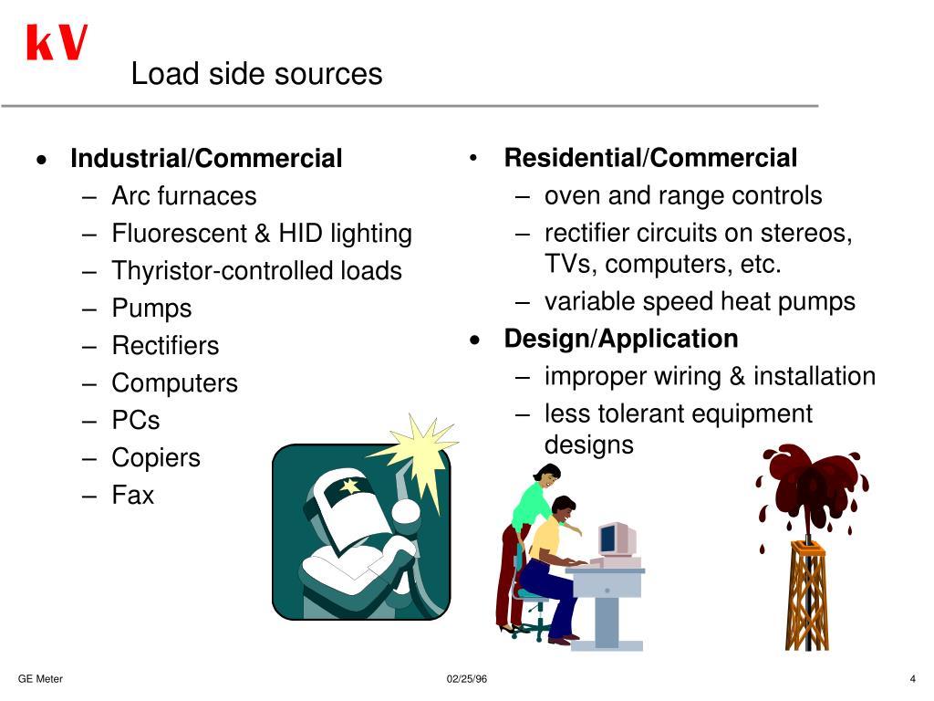 Load side sources