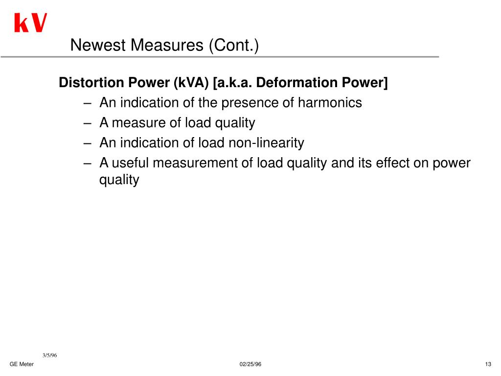 Newest Measures (Cont.)