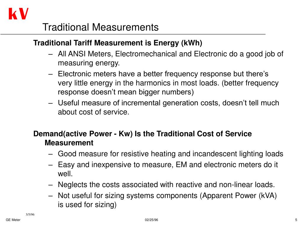Traditional Measurements