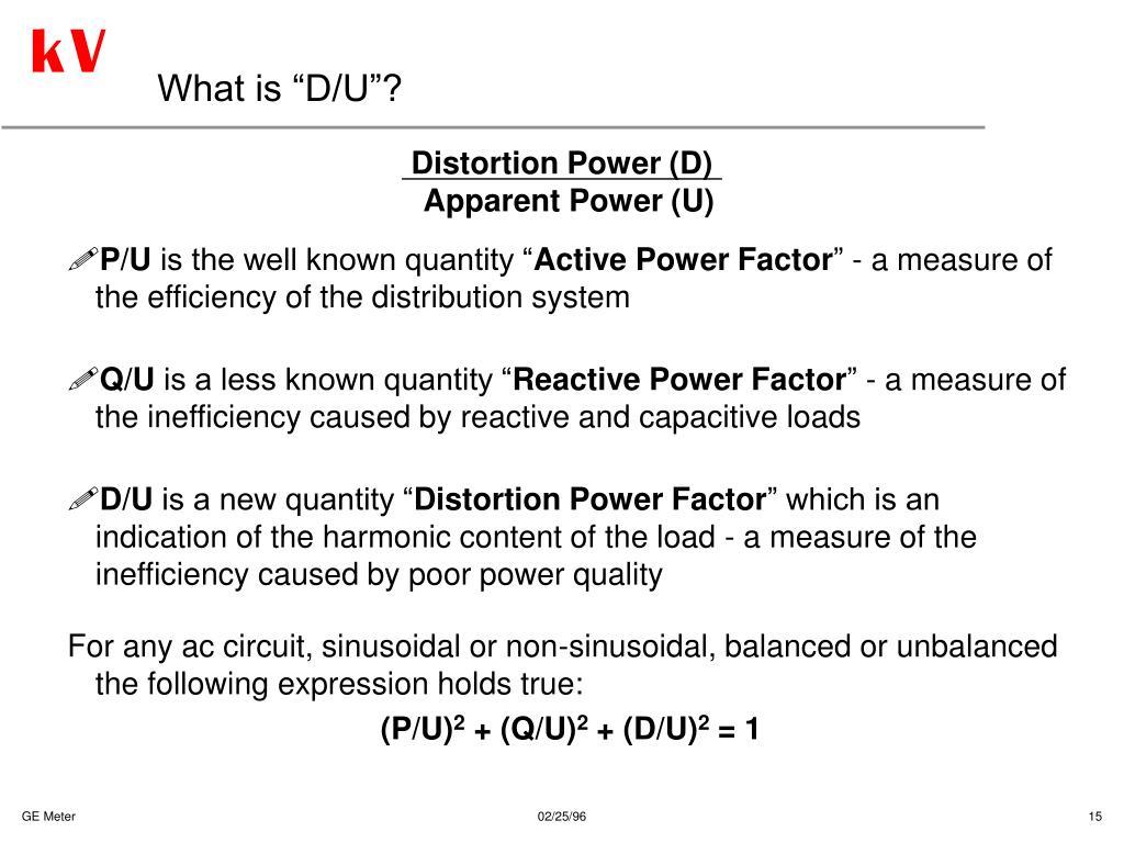 Distortion Power (D)