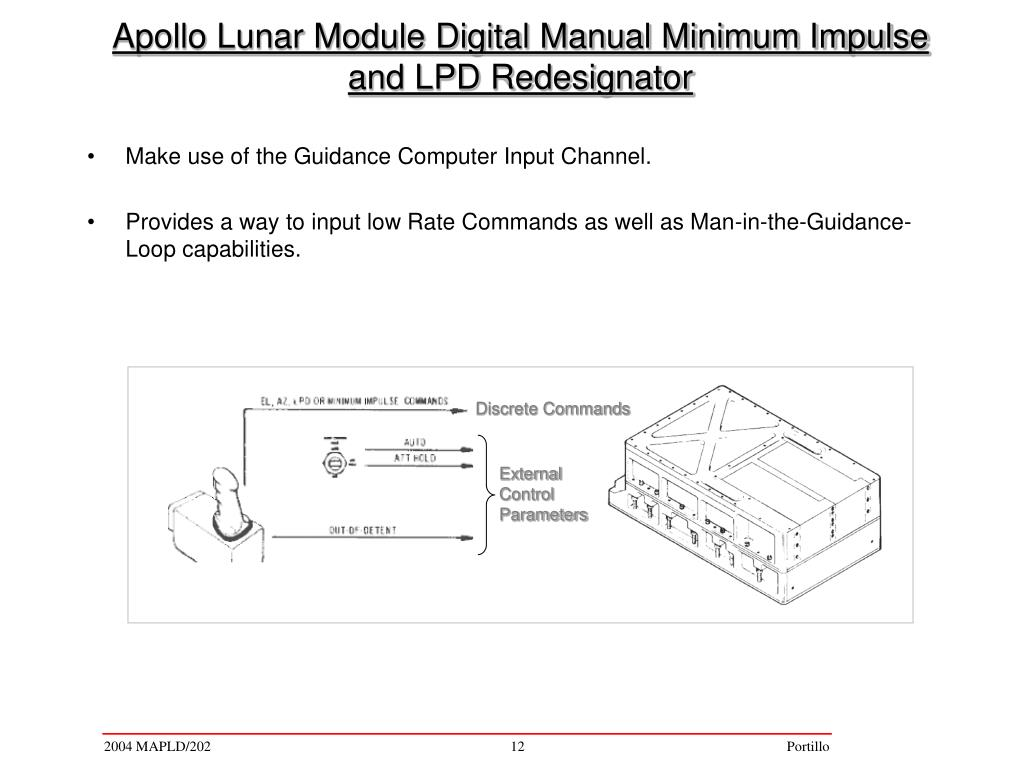 Make use of the Guidance Computer Input Channel.