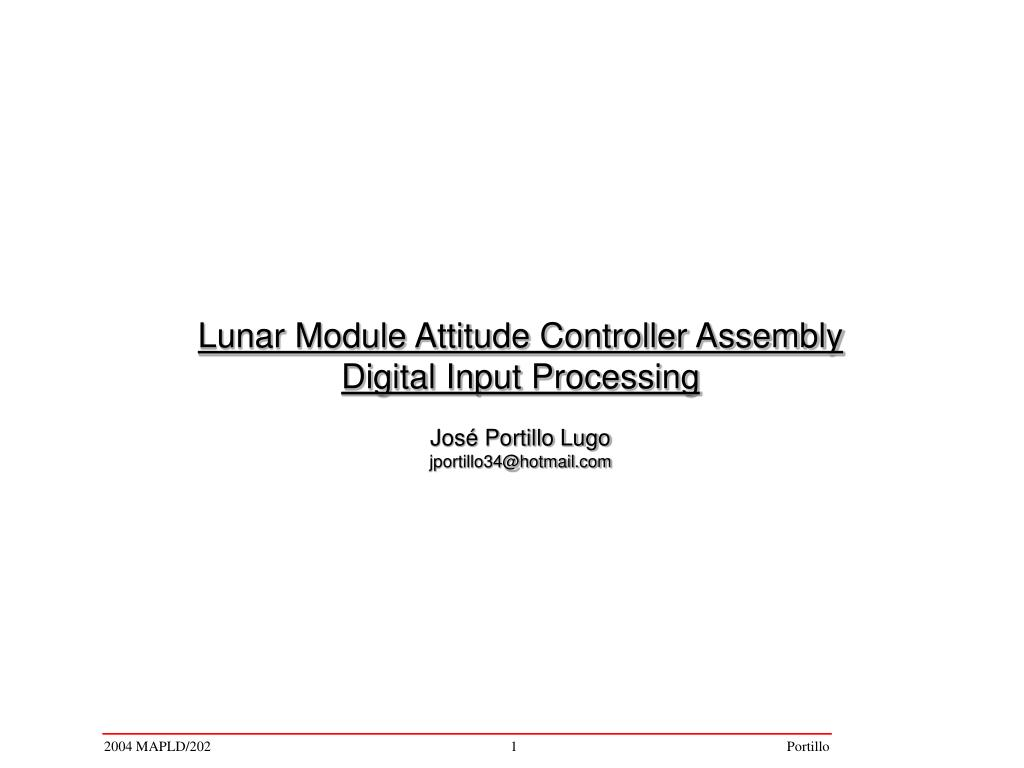 Lunar Module Attitude Controller Assembly