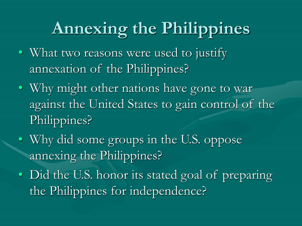 Annexing the Philippines