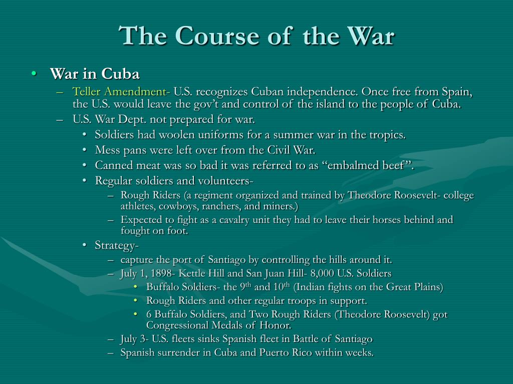 The Course of the War