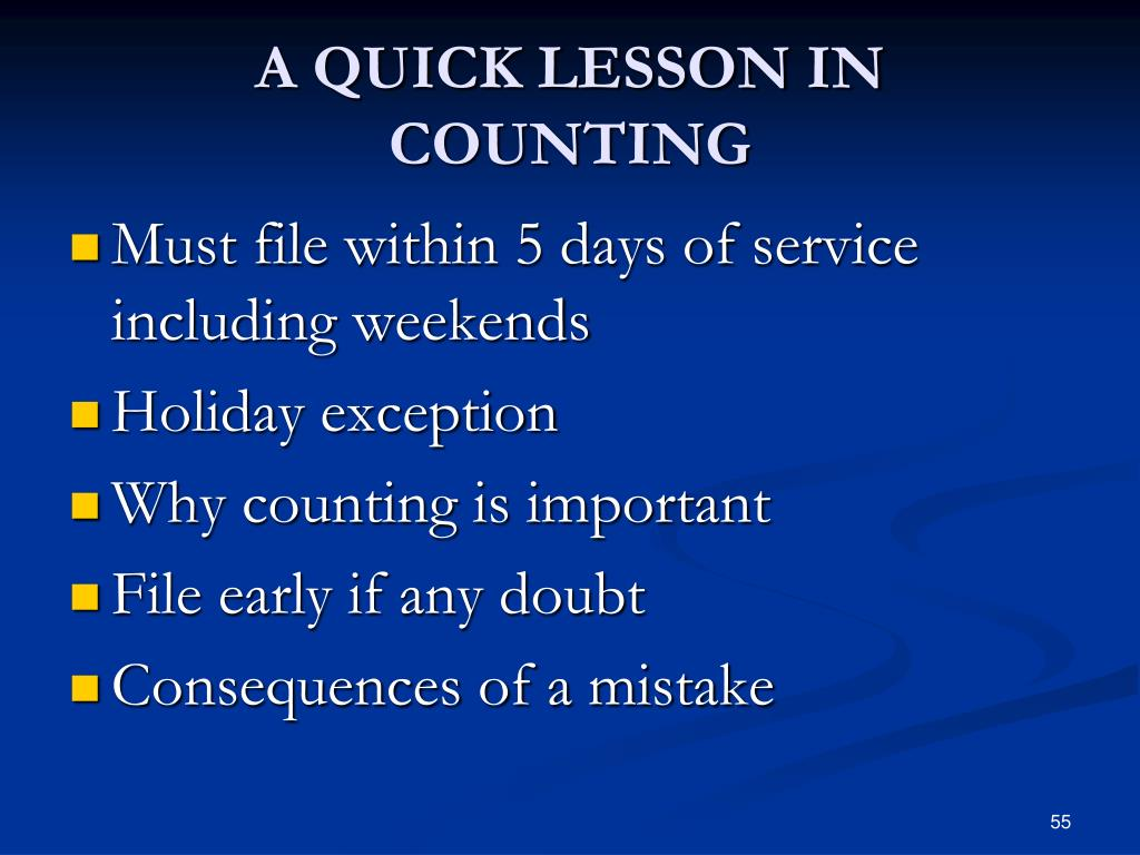 A QUICK LESSON IN COUNTING