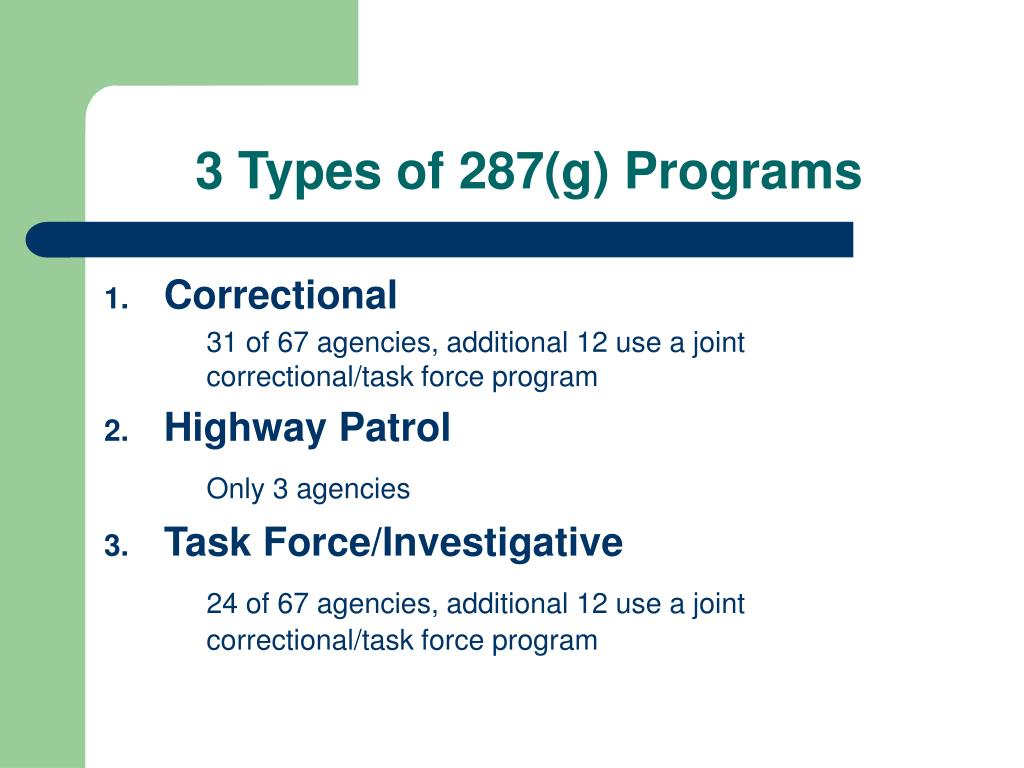 3 Types of 287(g) Programs