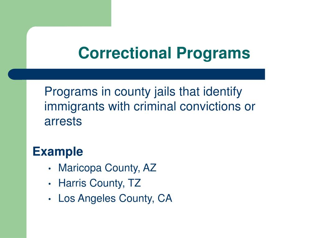 Correctional Programs
