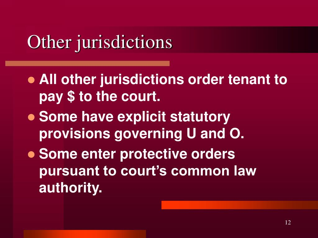 Other jurisdictions