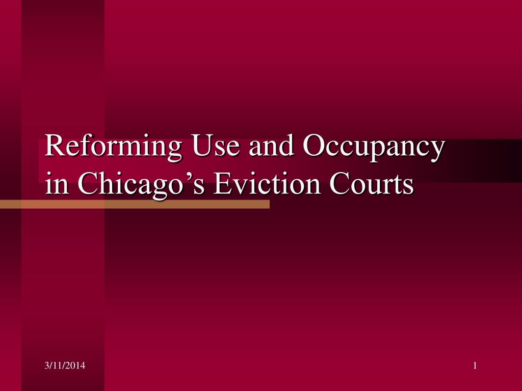 Reforming Use and Occupancy in Chicago's Eviction Courts