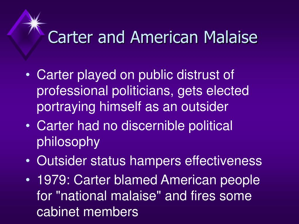 Carter and American Malaise