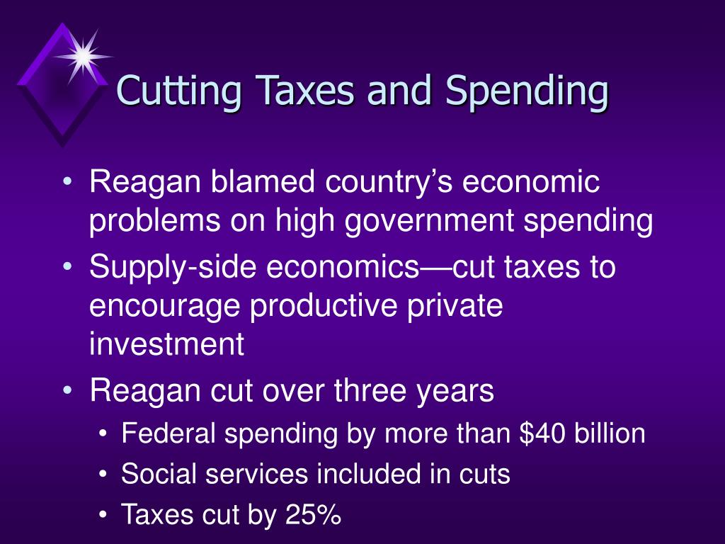 Cutting Taxes and Spending