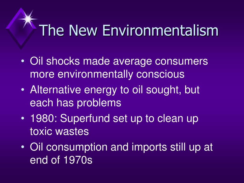 The New Environmentalism