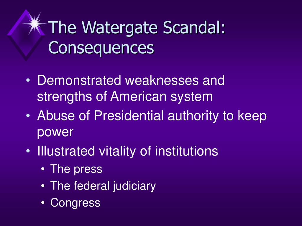 The Watergate Scandal: Consequences