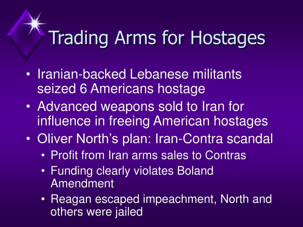 Trading Arms for Hostages