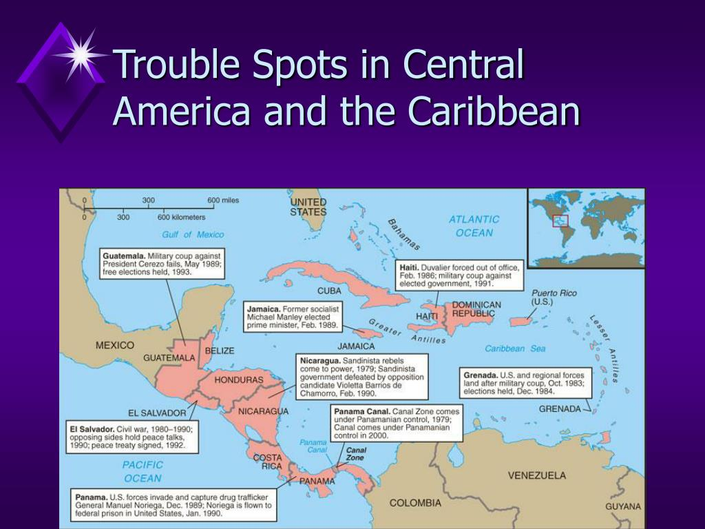 Trouble Spots in Central America and the Caribbean