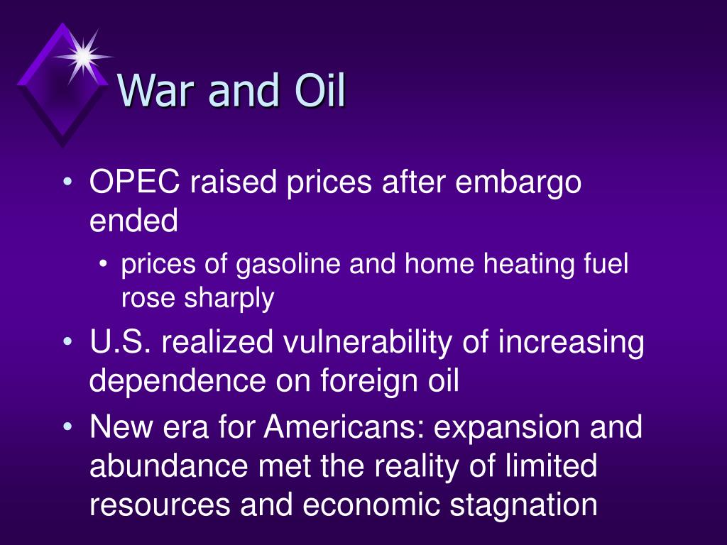 War and Oil