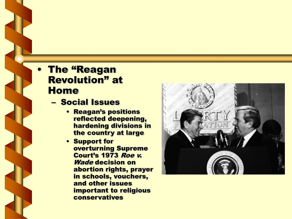 "The ""Reagan Revolution"" at Home"