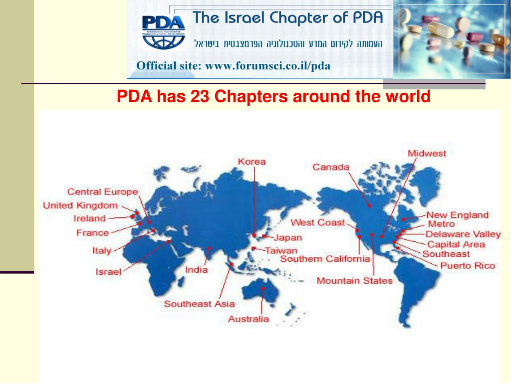 PDA has 23 Chapters around the world
