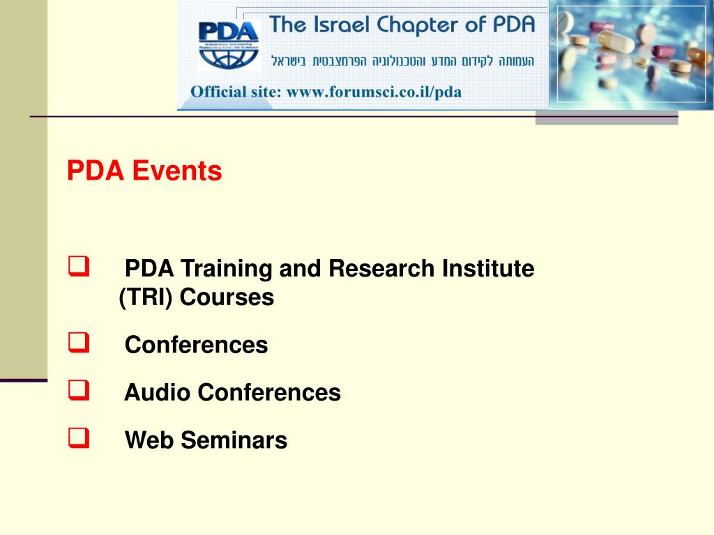 PDA Events