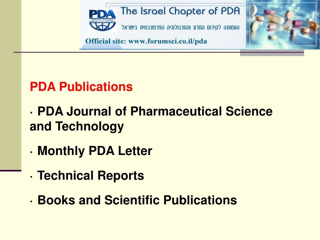 PDA Publications