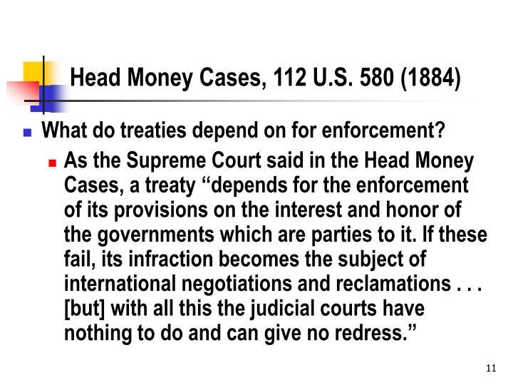 Head Money Cases, 112 U.S. 580 (1884)