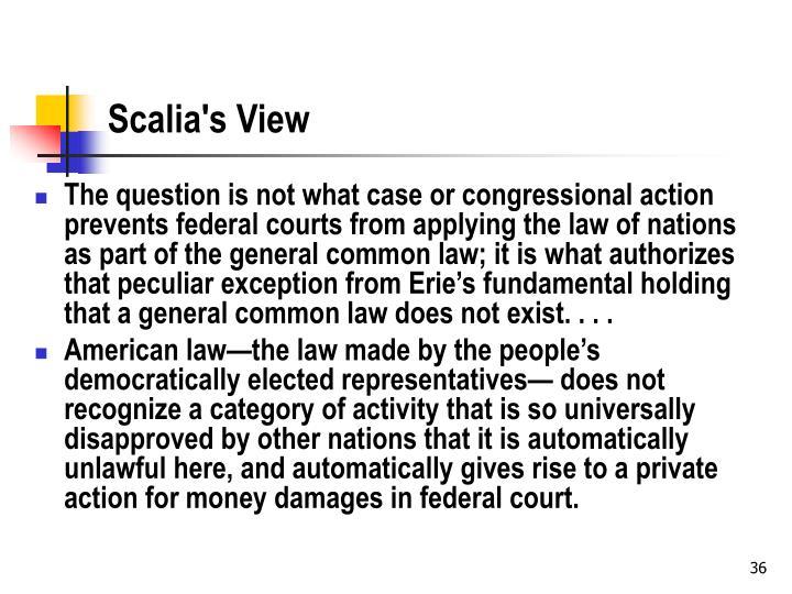 Scalia's View