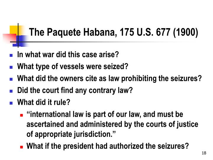 The Paquete Habana, 175 U.S. 677 (1900)