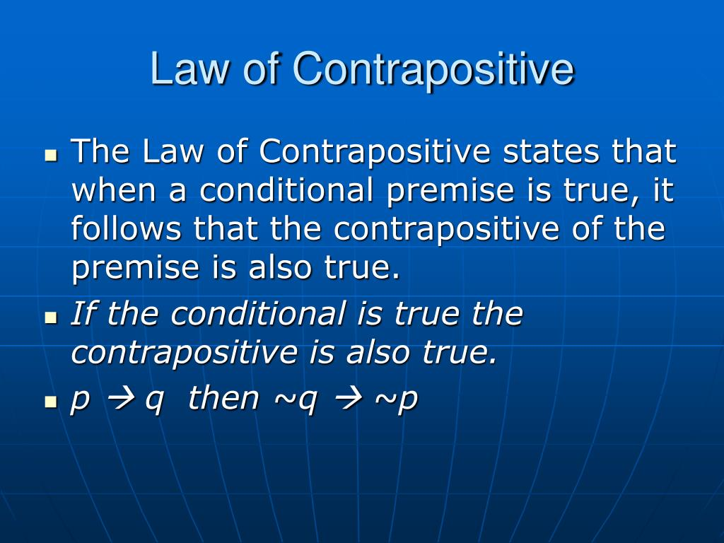 Law of Contrapositive
