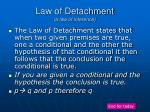 law of detachment a law of inference