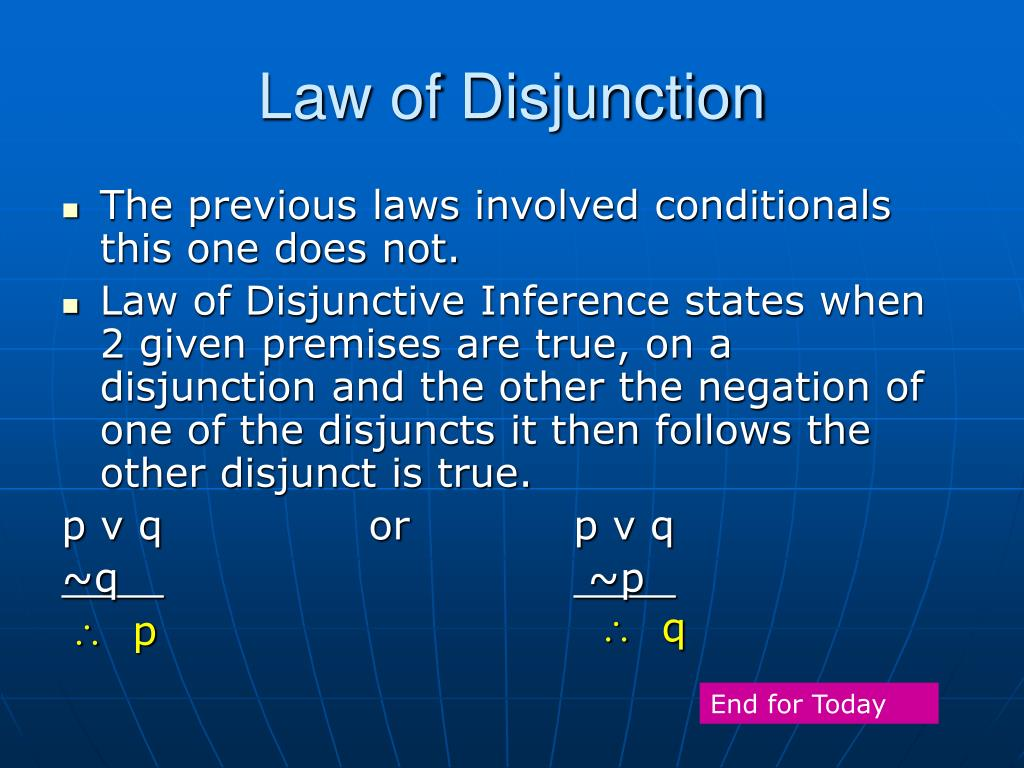 Law of Disjunction
